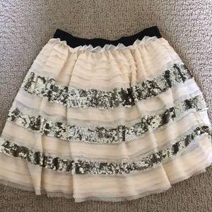 Free People flowy sparkle mini skirt
